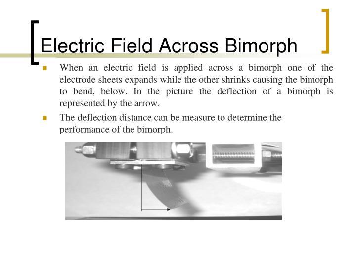 Electric Field Across Bimorph