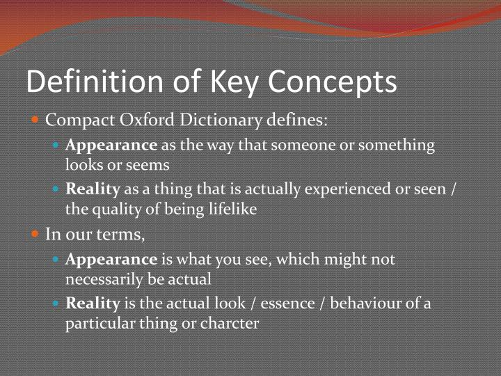 Definition of Key Concepts