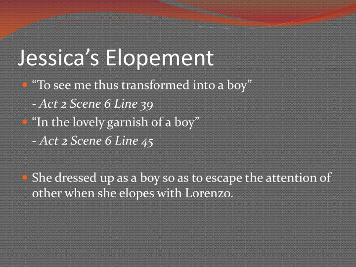 Jessica's Elopement
