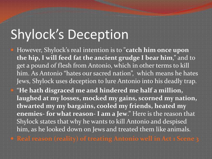 Shylock's Deception
