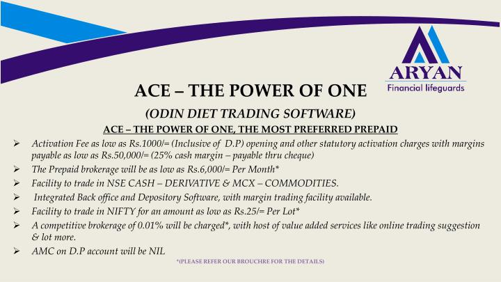 ACE – THE POWER OF ONE