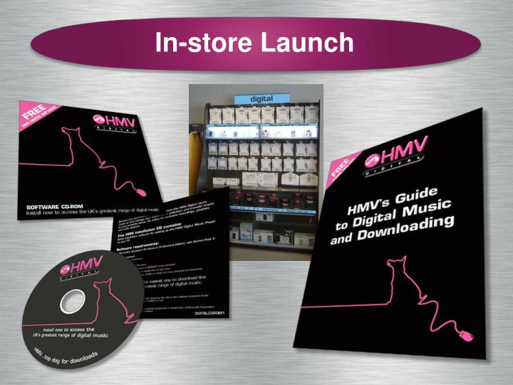 In-store Launch