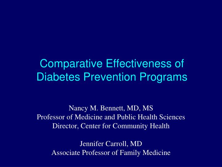 Comparative Effectiveness of