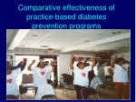 comparative effectiveness of practice based diabetes prevention programs
