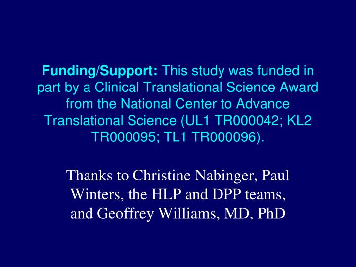 Funding/Support: