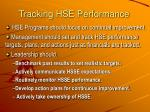 tracking hse performance