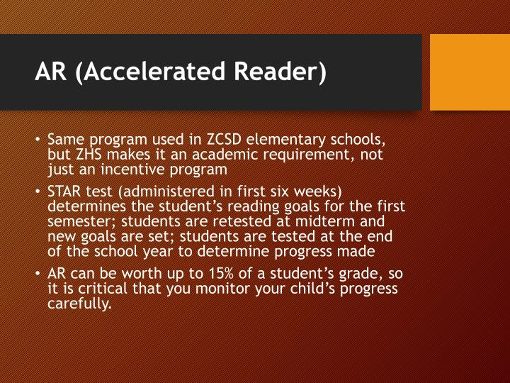 AR (Accelerated Reader)