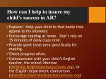 how can i help to insure my child s success in ar