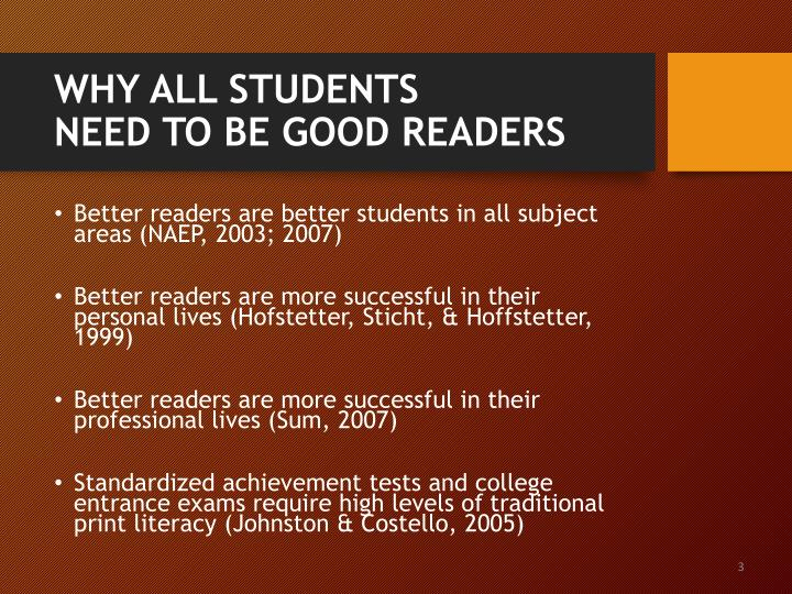 Why all students need to be good readers