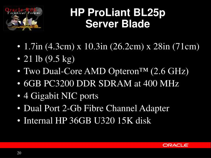 HP ProLiant BL25p