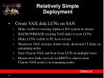 relatively simple deployment1