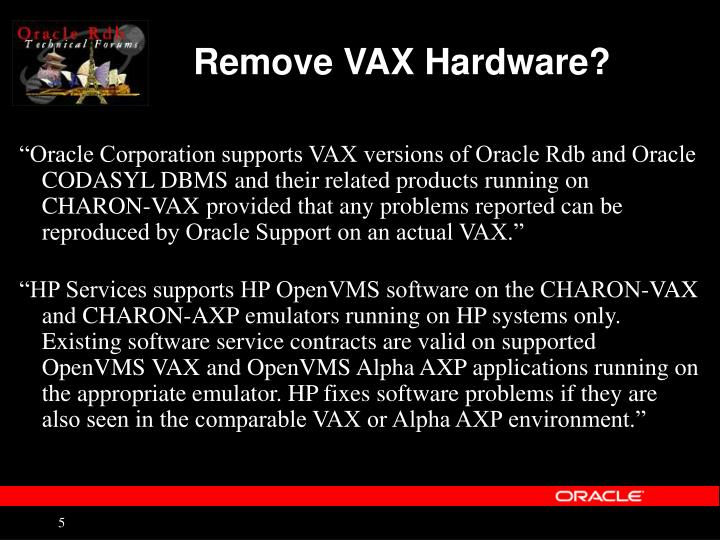 Remove VAX Hardware?
