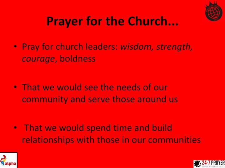 Prayer for the Church...