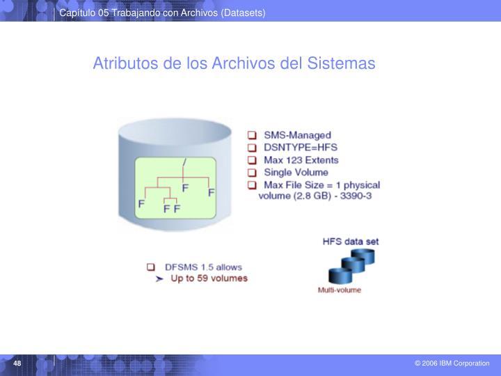 Atributos de los Archivos del Sistemas