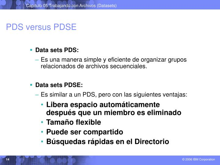 PDS versus PDSE