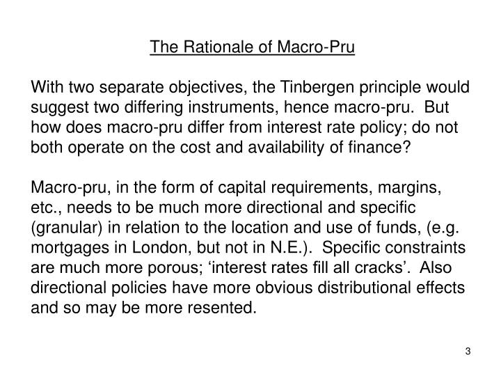 The Rationale of Macro-Pru