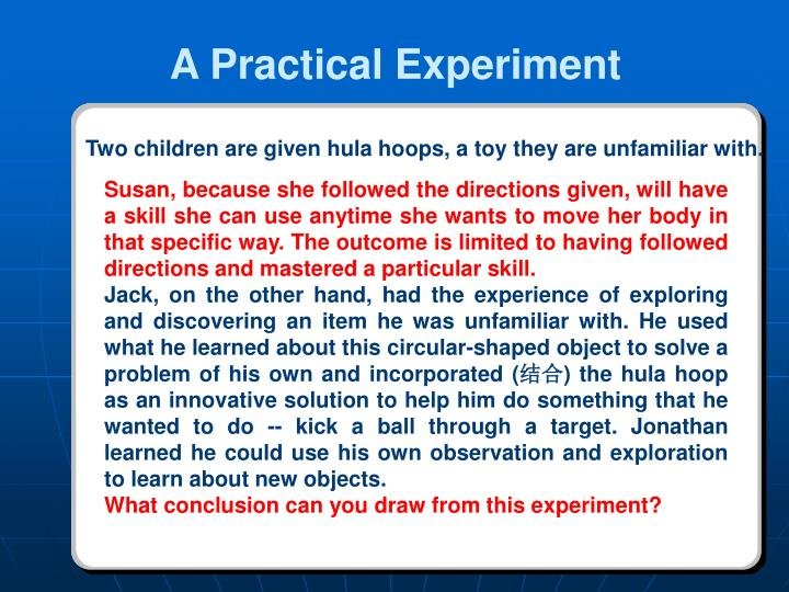 A Practical Experiment