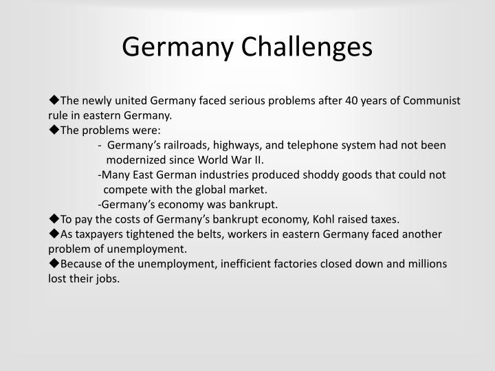 Germany Challenges