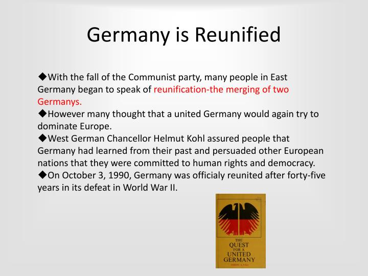 Germany is Reunified