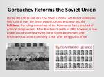 gorbachev reforms the soviet union