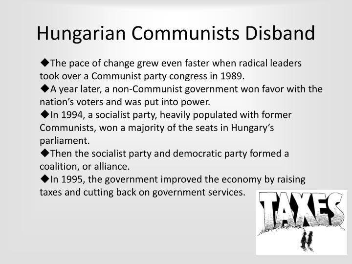 Hungarian Communists Disband