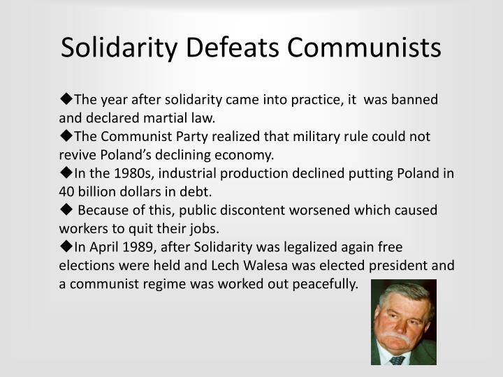 Solidarity Defeats Communists