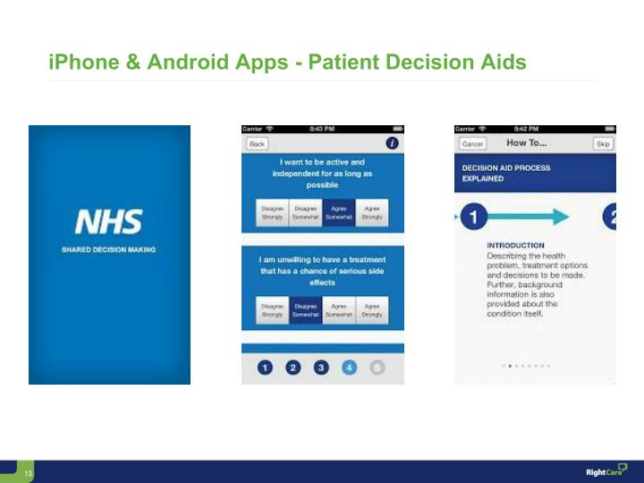 iPhone & Android Apps - Patient Decision Aids