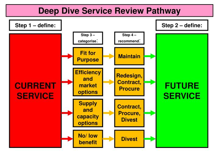 Deep Dive Service Review Pathway