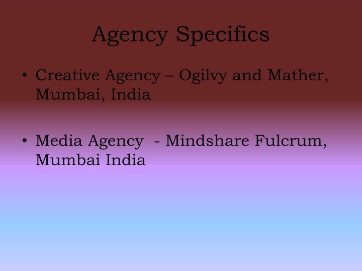 Agency Specifics