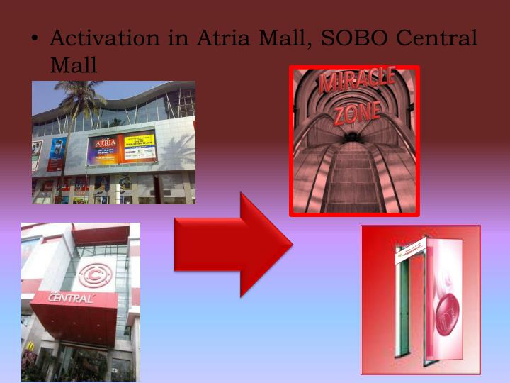 Activation in Atria Mall, SOBO Central Mall