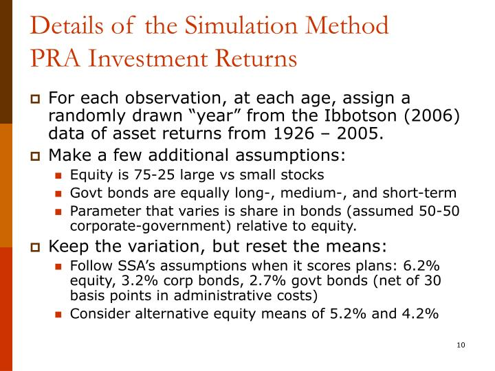 Details of the Simulation Method