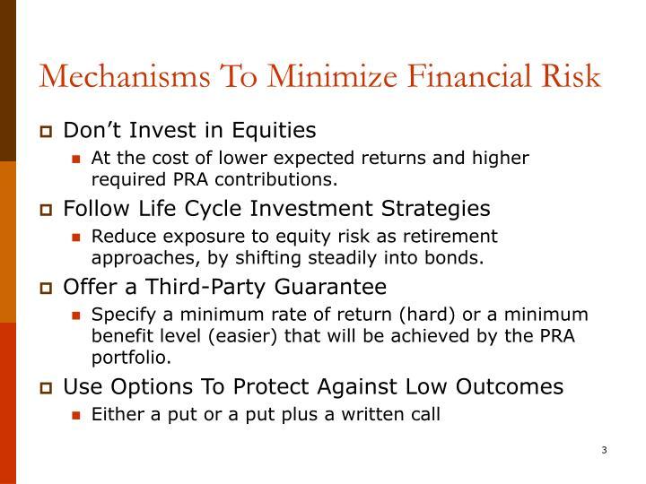 Mechanisms To Minimize Financial Risk
