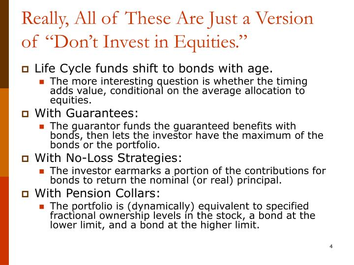 """Really, All of These Are Just a Version of """"Don't Invest in Equities."""""""