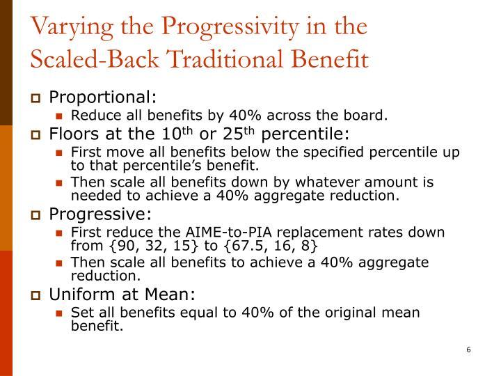 Varying the Progressivity in the