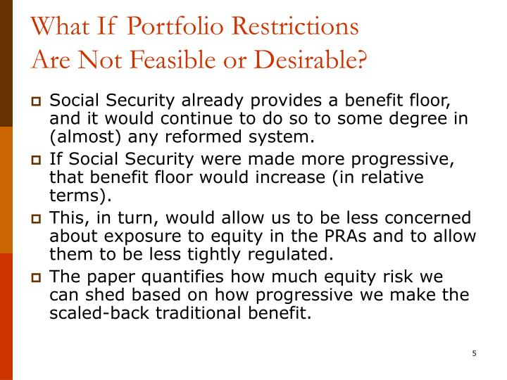 What If Portfolio Restrictions