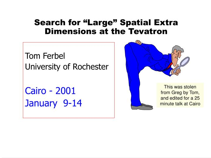 Search for large spatial extra dimensions at the tevatron