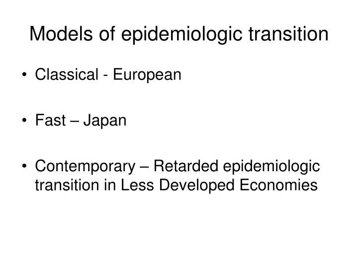 Models of epidemiologic transition