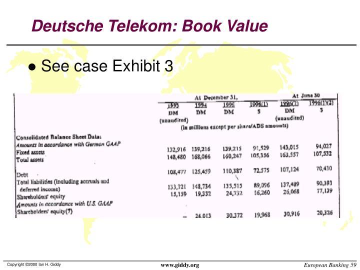 Deutsche Telekom: Book Value