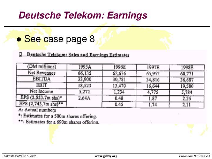 Deutsche Telekom: Earnings