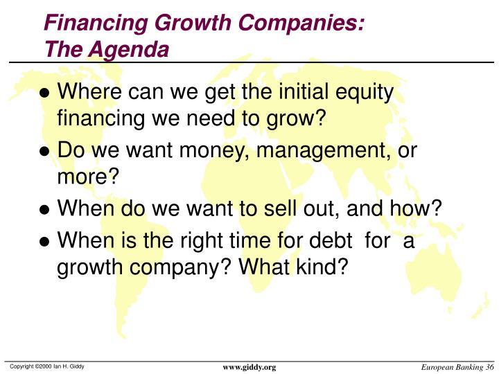 Financing Growth Companies: