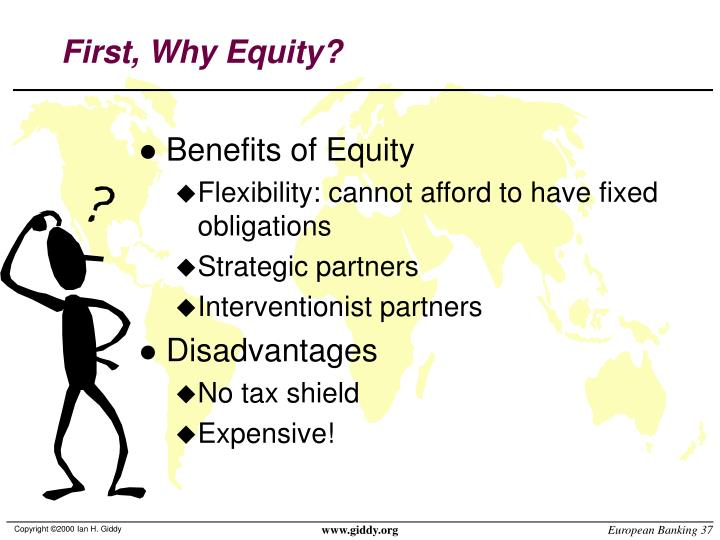 First, Why Equity?