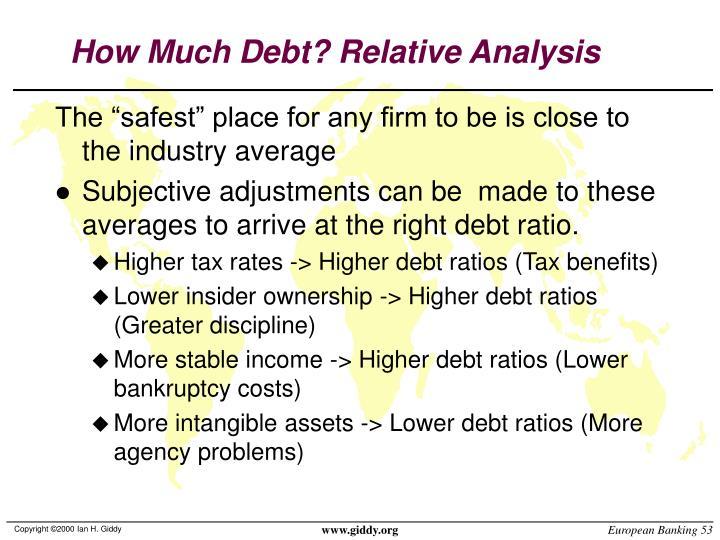 How Much Debt? Relative Analysis