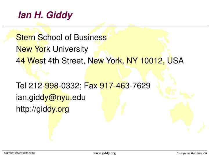 Ian H. Giddy