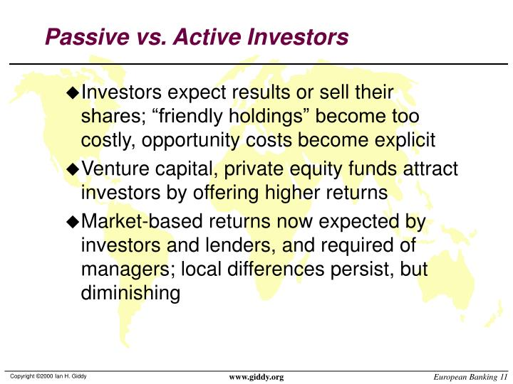 Passive vs. Active Investors