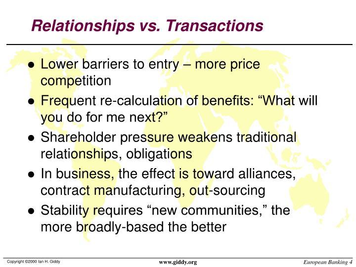 Relationships vs. Transactions
