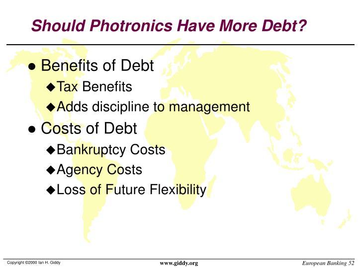 Should Photronics Have More Debt?