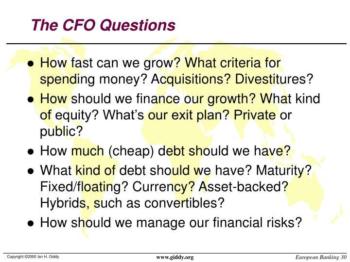 The CFO Questions