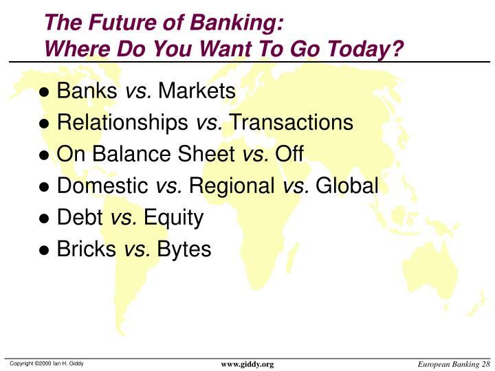The Future of Banking: