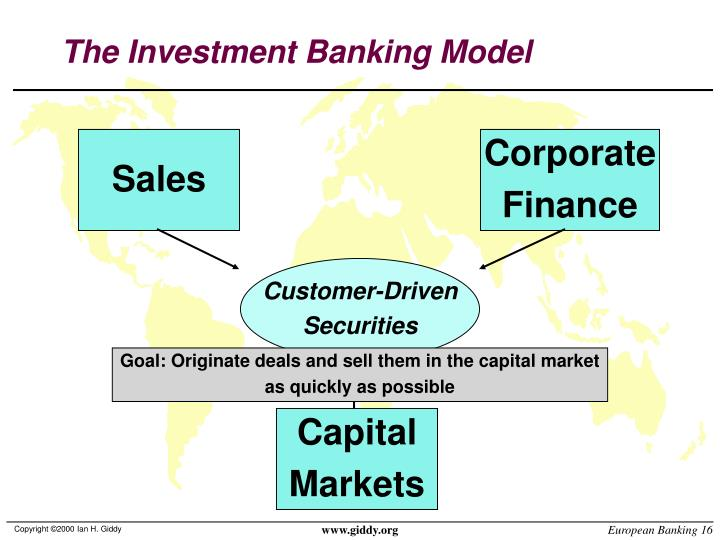 The Investment Banking Model
