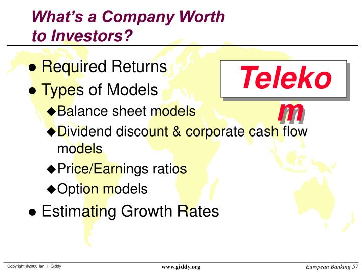 What's a Company Worth